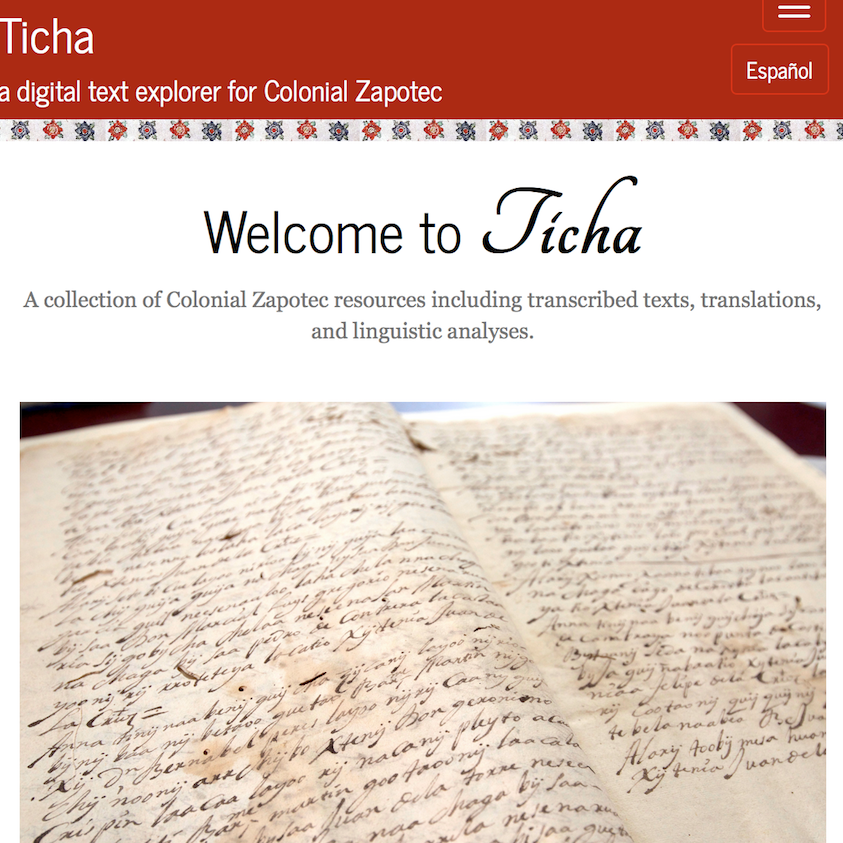 Ticha Digital Text Explorer